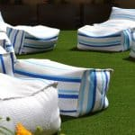 Residential Deck Artificial Grass Installation
